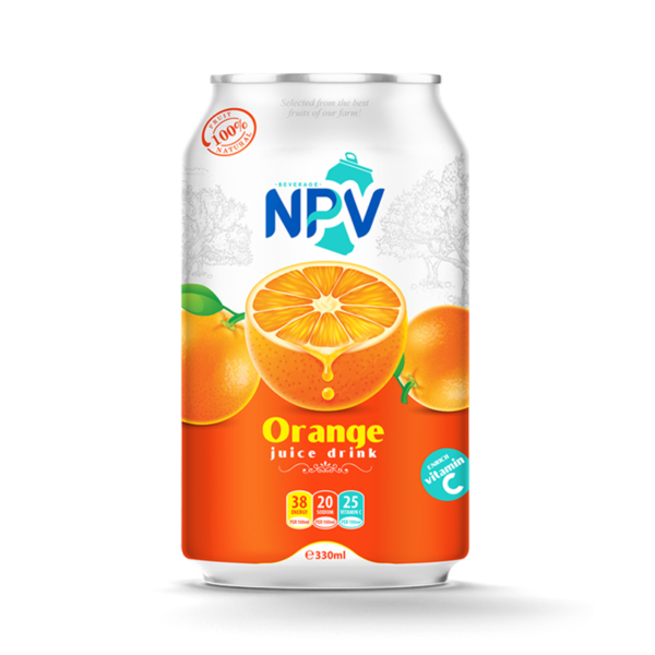 Orange juice drink 330ml can