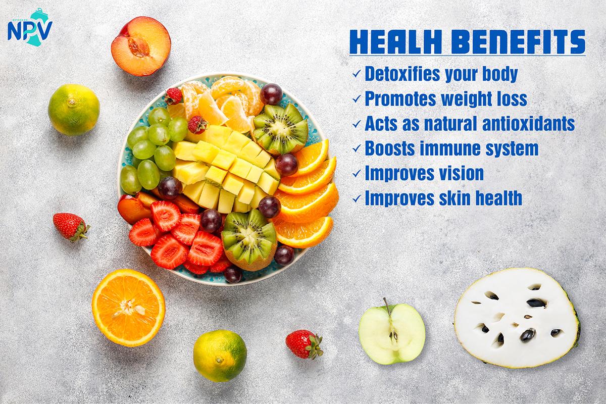 The healh benefit of fruit juice