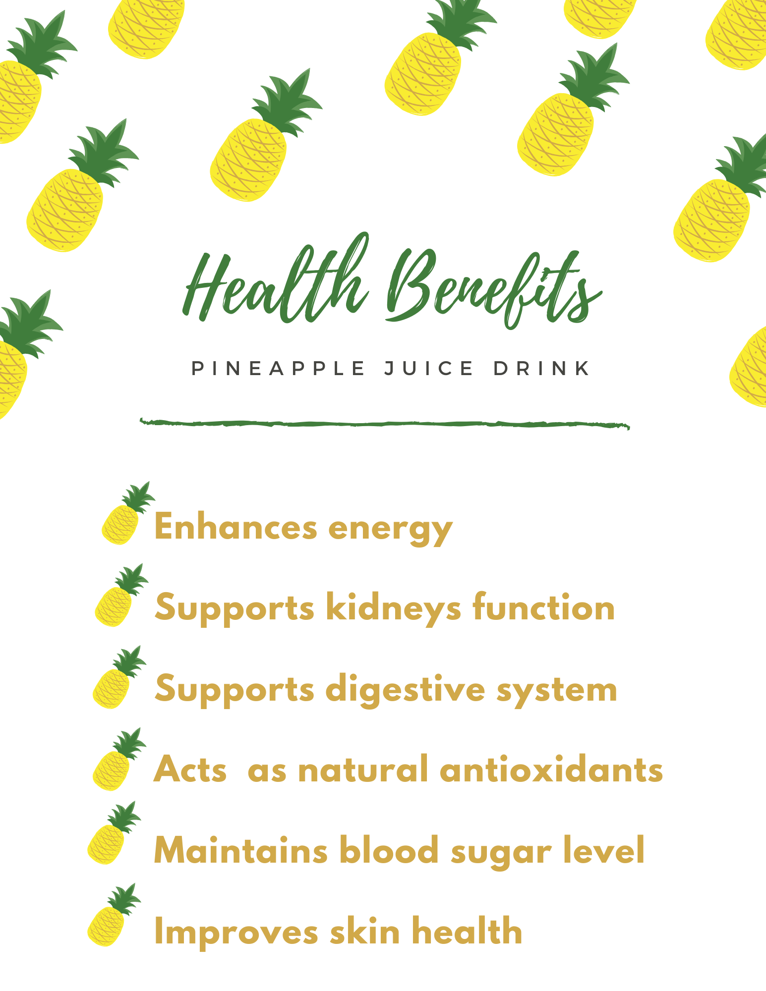 Pineapple Juice Drink is very good for your health