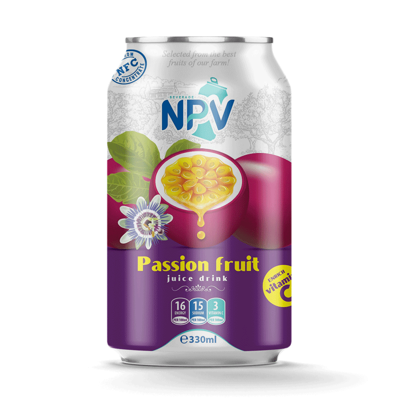 Passion Fruit Juice Drink 330ml Can