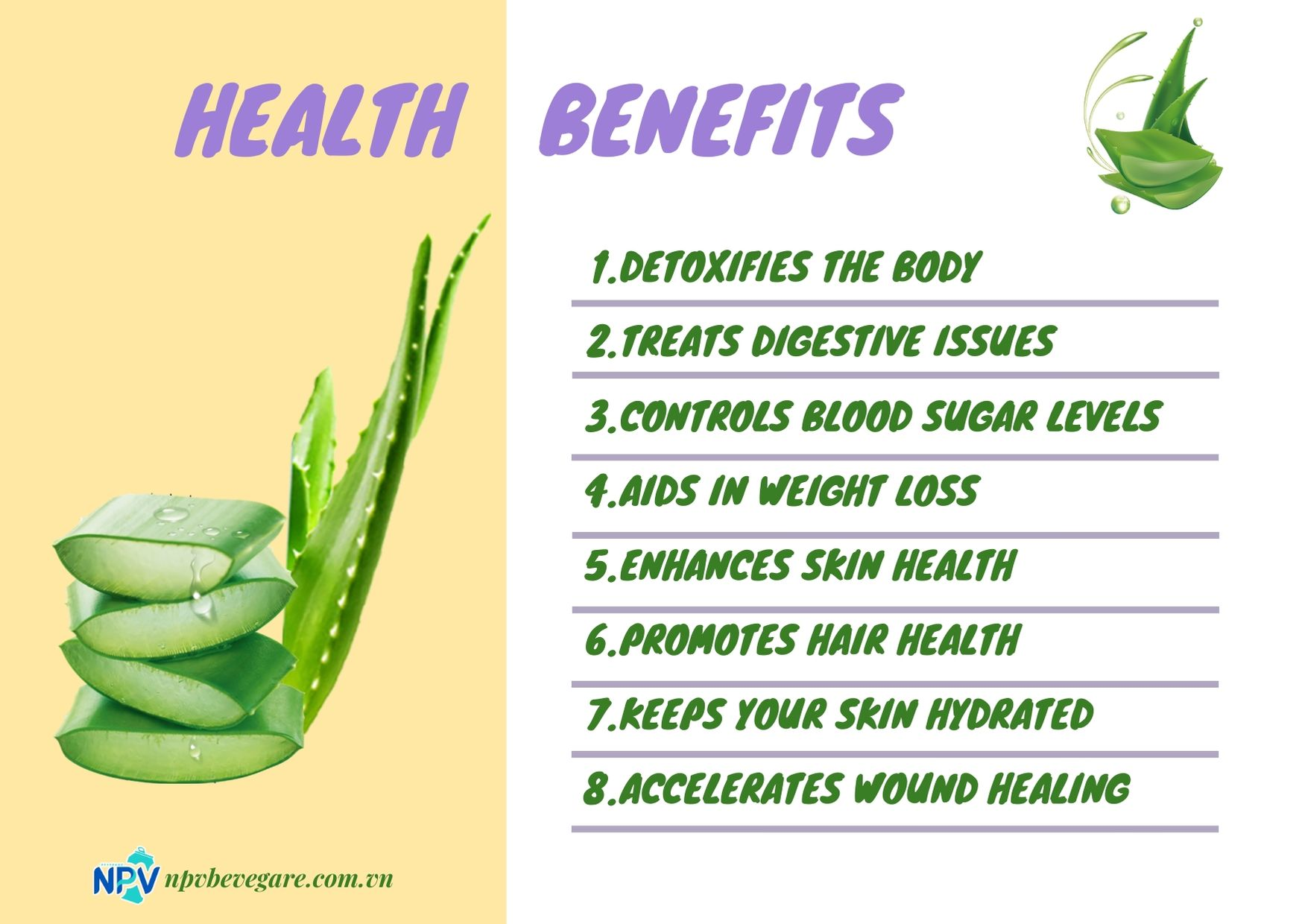 Aloe vera has many health benefits