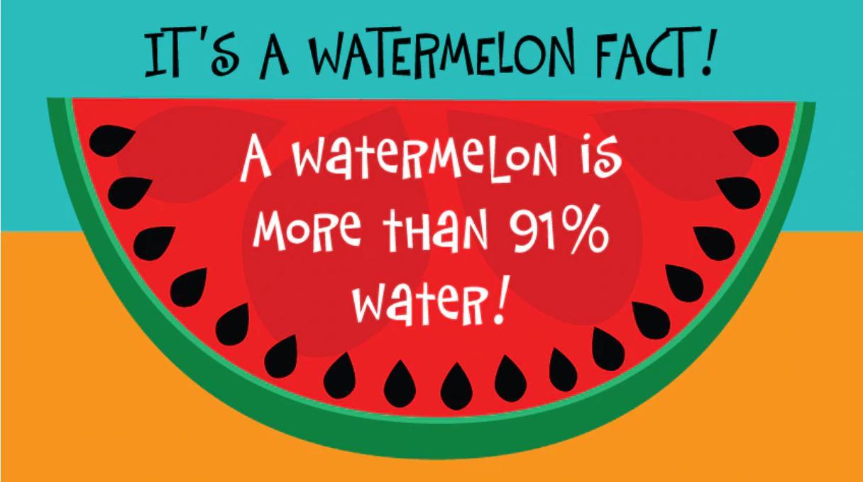 Watermelon is 91% water