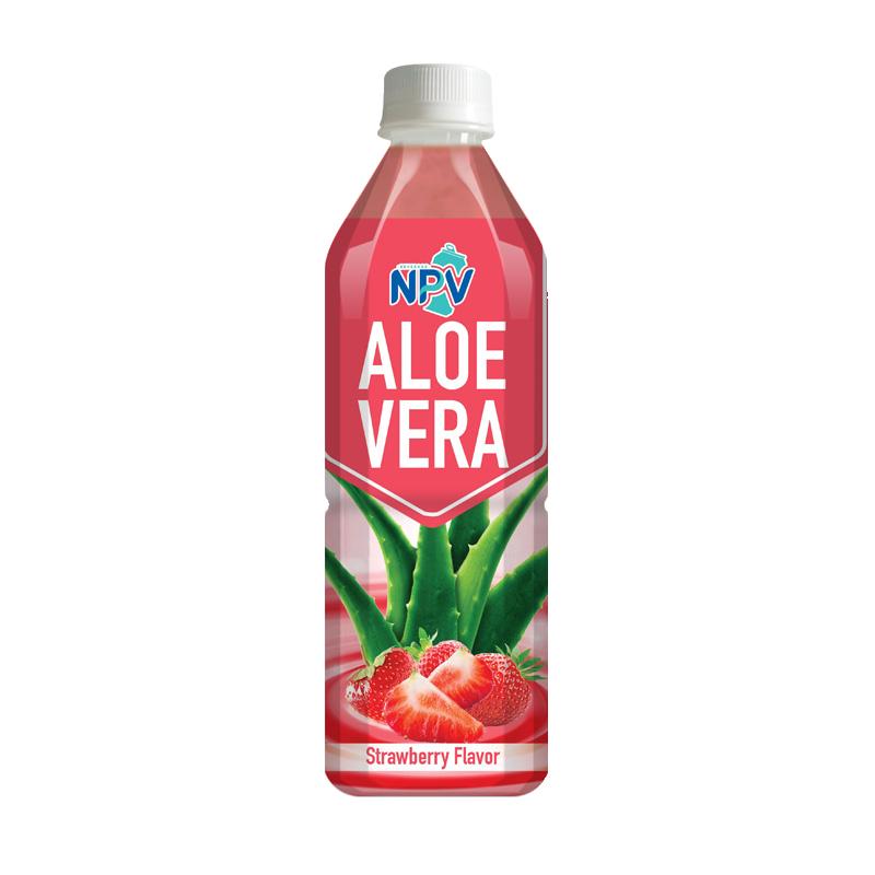 Aloe Vera Drink With Strawbeery Flavor 500ml Bottle