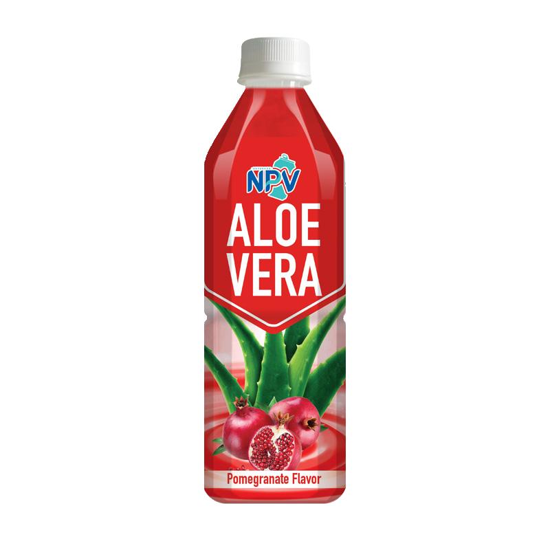 Aloe Vera Drink With Pomegranate Flavor 500ml Bottle