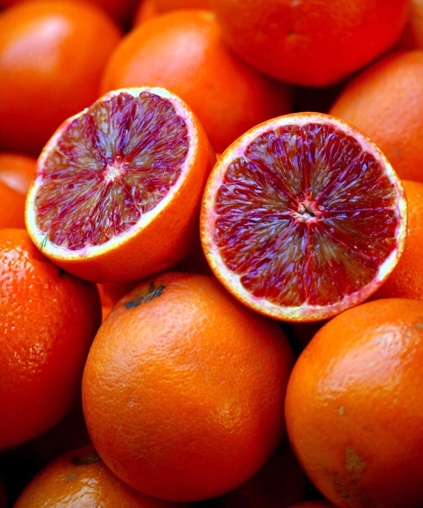 Blood orange has a lovely red color