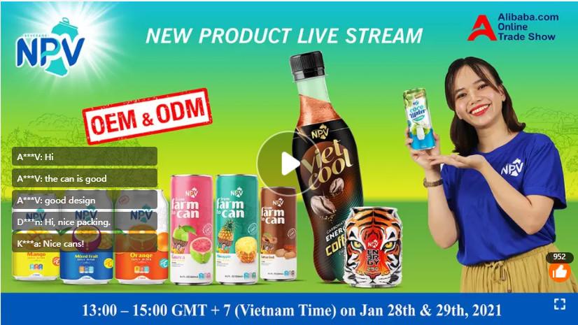 NPV livestream alibaba 28/01/2021