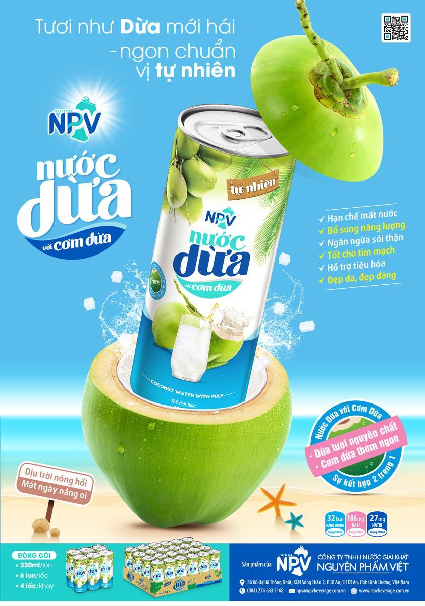 Nước dừa NPV lon 330ml